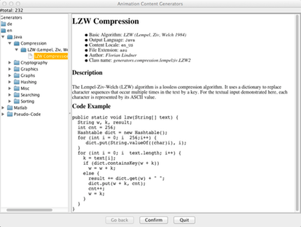 Choosing the LZW Compression algorithm