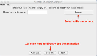Either choose a file name to save to, or directly click Confirm to see the animation